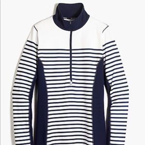 New Balance for J.Crew pullover in navy stripe